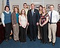 U.S. Department of Agriculture (USDA) Secretary Tom Vilsack (center) meets with the Iowa 4-H delegation.jpg