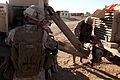 U.S. Marines with Transportation Support Company, Combat Logistics Regiment 2, 2nd Marine Logistics Group, undergo realistic training in an urban environment during Enhanced Mojave Viper (EMV), on Marine Corps 120917-M-KS710-069.jpg