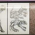 U2 Museumsquartier Kunst Bahnsteig 2 Zeichnung 08 Zwei animalische Wesen.jpg