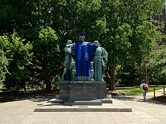Alma Mater (Illinois sculpture) - The Alma Mater statue at the University of Illinois at Urbana-Champaign during the 2012 commencement week.