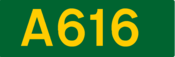 A616 road shield