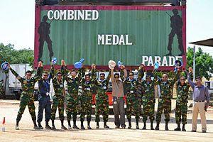 Bangladesh UN Peacekeeping Force - Image: UNAMID Combined madel parad ( BANSRIC+BANMMRLU)