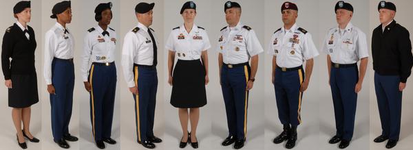 Dress blue army uniform standards