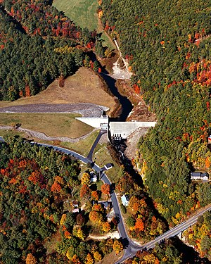 Blackwater River (Contoocook River) - Blackwater Dam on the Blackwater River in Merrimack County