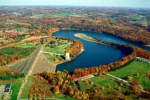 Armstrong County, Pennsylvania - The Crooked Creek Lake Recreation Area is a dam, reservoir, and park near Ford City in Armstrong County.