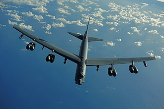 20th Bomb Squadron - English: A U.S. Air Force B-52 Stratofortress from the 20th Expeditionary Bomb Squadron, Barksdale Air Force Base, La., flies a mission in support of Rim of the Pacific (RIMPAC) 2010 over the Pacific Ocean July 10, 2010.