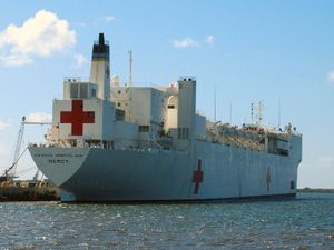 Medical Corps (United States Navy) - USNS ''Mercy'', a U.S. Navy hospital ship