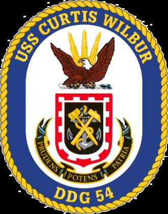 USS Curtis Wilbur - Image: USS Curtis Wilbur DDG 54 Crest