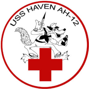 USS Haven (AH-12) - Image: USS Haven badge