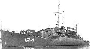 USS Horace A. Bass (APD-124), circa in 1945