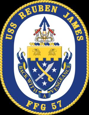 USS Reuben James (FFG-57) - Image: USS Reuben James. FFG 57 Crest