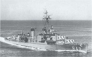 USS <i>Richard E. Kraus</i> (DD-849) Gearing-class destroyer