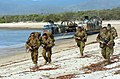US Navy 050619-N-6811L-212 Australian Army Soldiers move up the beach at Sabina Point after disembarking from a U.S. Navy Landing Craft Air Cushion (LCAC).jpg