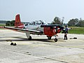 US Navy 050622-N-5329B-017 The last T-34C Turbomentor, assigned to Training Air Wing Six (TW-6), starts it's engine prior to its last training flight on board Naval Air Station Pensacola's Sherman Field.jpg