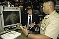 US Navy 080806-N-8467N-001 Chief Fire Control Technician Jason Vega Cruz talks about nagivation aboard the fast-attack submarine USS Philadelphia (SSN 690) to actor and Army Veteran Rip Torn.jpg