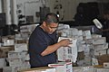 US Navy 091217-N-8421M-009 Yeoman 2nd Class Randy Paradeza sorts mail aboard the aircraft carrier USS Nimitz (CVN 68) during a replenishment at sea.jpg