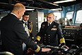 US Navy 100324-N-8590G-003 Chief of Naval Staff of the Pakistan Navy Adm. Noman Bashir listens to Cmdr. Scott M. Smith, commanding officer of the guided-missile frigate USS Klakring (FFG 42).jpg