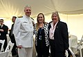 US Navy 110507-N-ZB612-231 Chief of Naval Operations (CNO) Adm. Gary Roughead, and his wife, Ellen, right, pose for a photo with Lt. Murphy's mothe.jpg