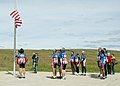US Navy 110916-N-MY805-048 Participants in the Ride 2 Recovery 9-11 Challenge conduct colors at a memorial service at the Shanksville 9-11 Memorial.jpg