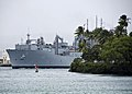 US Navy 111110-N-RI884-018 The Military Sealift Command dry cargo and ammunition ship USNS Washington Chambers (T-AKE 11) transits Pearl Harbor.jpg