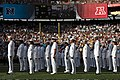 US Navy 120129-N-WP746-038 More than 200 Hawaii-based Sailors stand at attention at the Aloha Stadium field during the 2012 Pro Bowl Military Appre.jpg