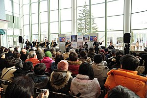 US Navy 120205-N-SD300-078 tHE U.S. 7th Fleet Band performs for 444 local residents at the Rera Chitose Outlet Mall.jpg