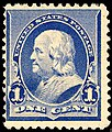 US stamp 1890 1c Franklin.jpg