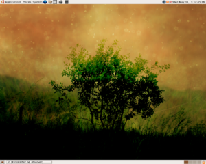A screenshot of Ubuntu Linux Desktop, v6.06LTS.