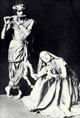 Uday Shankar - Uday Shankar and Anna Pavlova in the famous 'Radha-Krishna' ballet, 1923.