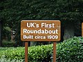 Uk's First Roundabout Sign - geograph.org.uk - 531294.jpg