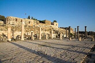 Umm Qais - Church terrace at Umm Qais