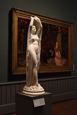 Undine - Undine Rising from the Waters by Chauncey Bradley Ives at Yale's Art Gallery