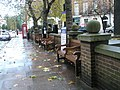Uninviting looking seats in Great Cumberland Place - geograph.org.uk - 1050412.jpg