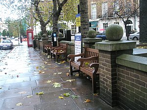 Great Cumberland Place - Benches on Great Cumberland Place.