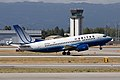 United Airlines Boeing 737-522 taking off at San Jose International Airport.jpg