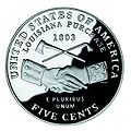 United States 2004 peace medal nickel, reverse.jpg