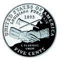 United States 2004 peace medal nickel, reverse.jpg