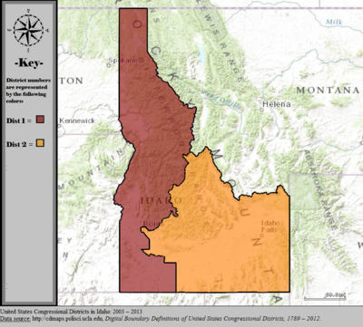 United States Congressional Districts in Idaho, 2003 – 2013.tif