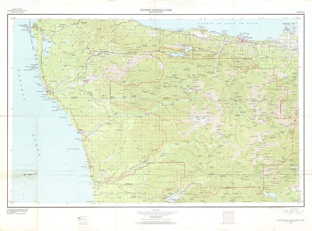 File:United States Geological Survey Map Olympic National Park ...