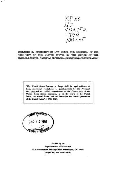 File:United States Statutes at Large Volume 104 Part 2.djvu