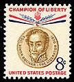 United States postage stamp honoring Simon Bolivar (1958).jpg