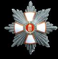 Unkarin Ansioritarikunnan suurristin rintatähti.png