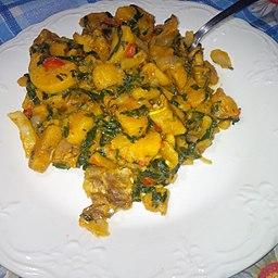 Unripe plantain porridge
