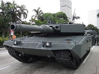 Rheinmetall - Image: Upgraded Leopard 2A4 SG NDP 2010