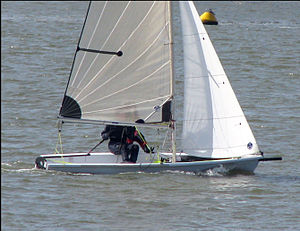 3000 (dinghy) - The optional Dacron jib with furler