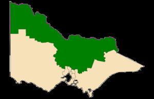 Northern Victoria Region - Location of Northern Victoria Region (dark green) in Victoria