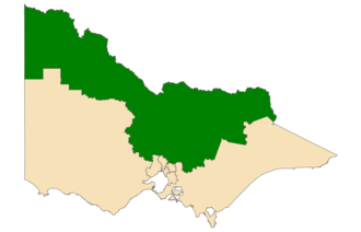 Northern Victoria Region - Location of Northern Victoria Region (dark green) in Victoria