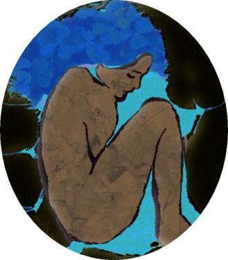 Varima-te-takere - The goddess Varima-te-takere in her womb-like domain in Avaiki.