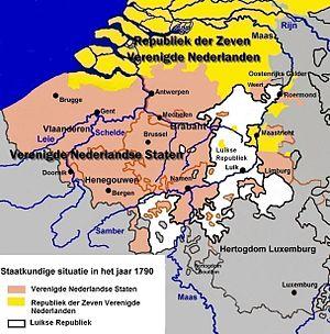 Republic of Liège - Image: Verenigde Nederlandse Staten 1790