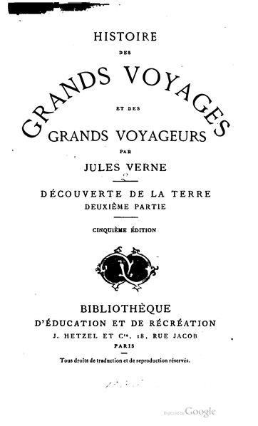File:Verne - Histoire des grands voyages et des grands voyageurs, Hetzel, 1870, tome 2.djvu